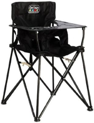 ciao! baby Portable Travel Highchair, Black Best High Chairs
