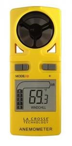 La Crosse Technology EA-3010U Handheld Travel Anemometer with backlight and included Neck lanyard