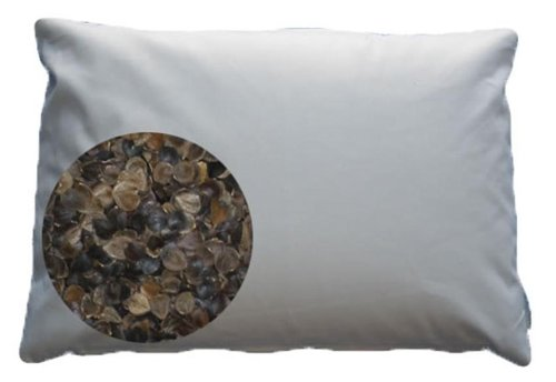 "Beans72 Organic Buckwheat Pillow - Japanese Size (14"" x 20"")"