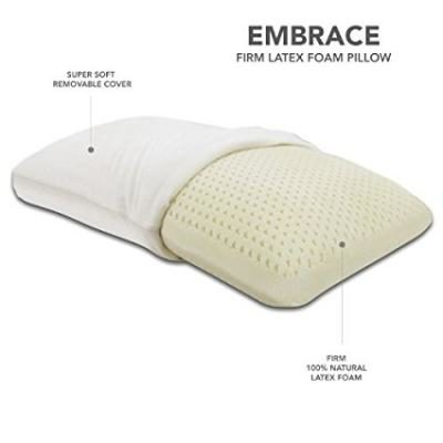 Classic Brands Embrace Firm Latex Pillow, 100 Percent Ventilated Latex Foam, Queen Size