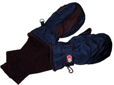 SnowStoppers Kid's Waterproof Stay On Winter Nylon Mittens Extra Large / 7-12 Years Navy blue