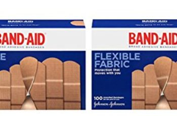 Band-Aid Brand Flexible Fabric Adhesive Bandages, Assorted Sizes QuNBXN, 2Pack (100 Count)