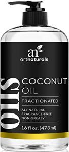 Art Naturals Fractionated Coconut Oil 16 oz 100% Natural & Pure - Best Carrier / Massage Oil
