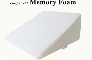 "InteVision Foam Wedge Bed Pillow (25"" x 24"" x 12"") with High Quality, Removable Cover"