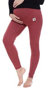 Simplicity Women Cotton Knit Maternity Stretch Leggings for Pregnant, 3025_Burgundy
