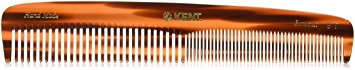 Kent - The Handmade Comb - Coarse and Fine Toothed Comb Sawcut 9T, Large, 192 mm