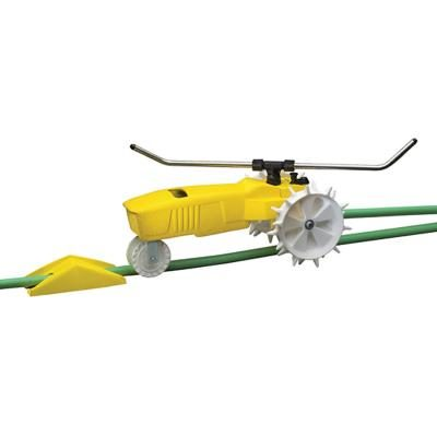 If you have a lawn that has a lot of plants, the Nelson 1865 Raintrain Traveling Sprinkler is the kind of sprinkler that you'll need.