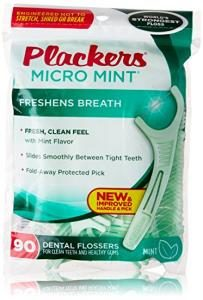 Plackers Dental Floss Mnt Size 90ct Plackers Dental Flossers Micro Mint 90 Count (pack of 3)