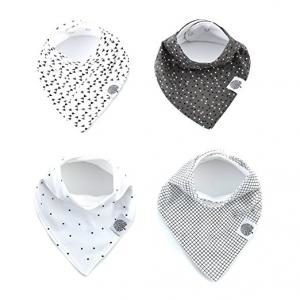 "The Good Baby Bandana Drool Bibs – 4 Pack Baby Bibs for Boys, Girls, Unisex - ""Shadow Set"""