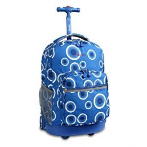 J World New York Sunrise Rolling Backpack, Blue Target, One Size