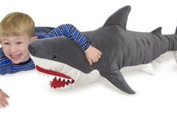 Melissa & Doug Giant Shark - Lifelike Stuffed Animal (over 3 feet long)