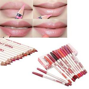 Aooher 12PCS Pro Ultra Deluxe Beauty Professional Waterproof Concealer Pencil To Mouth Lip liner Shaping Make Up Foundations Tools
