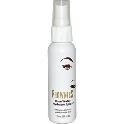 Frownies – Facial Organic Rose Water Hydrating Spray with Essential Oils - 2 Ounces