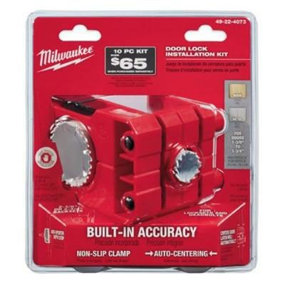 Milwaukee 49-22-4073 Hole Saw - Door Lock Kit with Installation Guide