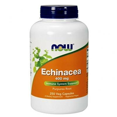 NOW Echinacea Root 400mg, 250 Vcaps