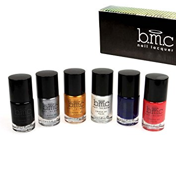 BMC Nail Stamping Lacquers - Creative Art Polish Collection, 6 Colors: Set 1