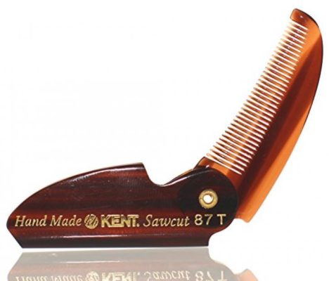 BRAND NEW LIMITED EDITION KENT 87T FOLDING BEARD & MUSTACHE COMB by KENT COMBS