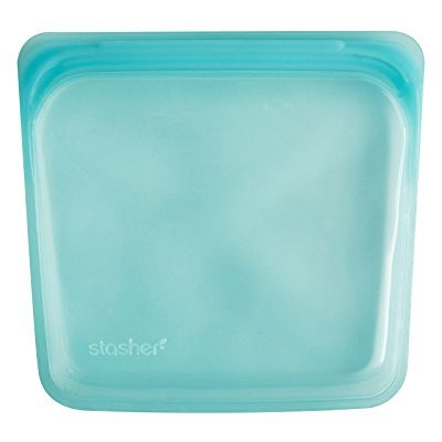 Stasher Reusable Silicone Food Bag, Aqua