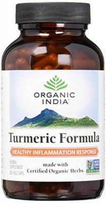 Organic India Turmeric Capsule Supplement, 180 Count