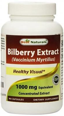 Best Naturals Bilberry 1000 Mg 90 Capsules