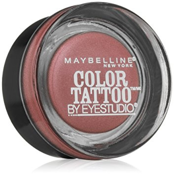 Maybelline New York Eyestudio ColorTattoo Metal 24HR Cream Gel Eye Shadow, Inked in Pink, 0.14 oz.