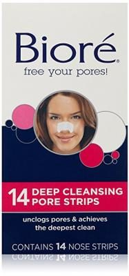 Biore Deep Cleansing Pore Strips , 14 Count Nose Strips