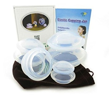 4 Cup Premium Transparent Silicone Cupping Set for Chinese Cupping and Massage Therapy