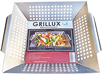 Grillux Stainless Steel Vegetable Grill Basket