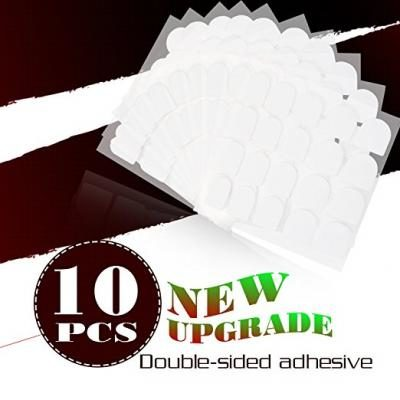 Perfect Summer Brand 10 Sheets False Nail Tips Adhesive Glue Double Sided Short Time Adhesive Nail Tabs for Arcylic Artificial Fake Nails