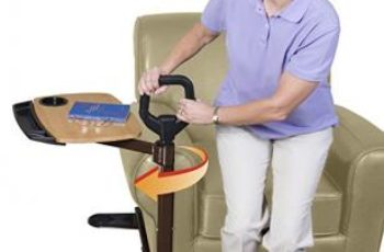 Able Life Able Tray Table - Bamboo Swivel TV Laptop Tray + Ergonomic -  Safety Support Mobility Handle