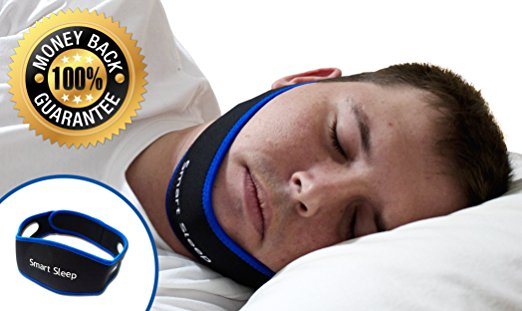 Smart Sleep Adjustable Anti Snore Chin Strap - Stops Snoring Naturally