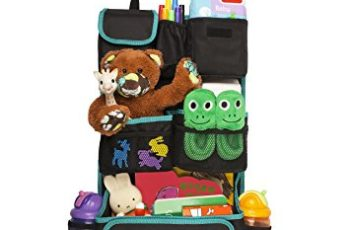 Car Organizer for Back Seat   Eco-Friendly & Strong   Kick Mat Protects Backseat   FREE Kids eBook   Storage for Toys, Travel Accessories, Phone & Tablet   Baby Shower Gift Box