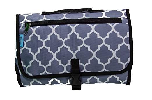 Baby Steps - The Best Portable Diaper Changing Pad & Compact Diapers Bag -Travel Change Station Mat – Grey Stone - Perfect Baby Shower Gift or Present For Mom of Newborn Boys or Girls