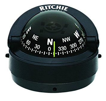 S-53 Ritchie Navigation Explorer Compass 2 3/4-Inch Dial with Surface Mount (Black)