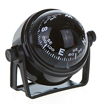 COOLBUY PARK LED Light Pivoting Compass Dashboard Dash Mount Marine Boat Truck Car Black
