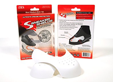 Sneaker Shields - Sneaker Protector Toe Box Decreaser, Anti Crease Wearable Inserts for Shoes - Keep Your Kicks Crease Free - Pre Notched Universal - 1 Pack - Medium - Men's 9.5-12 / Women's 10.5-13