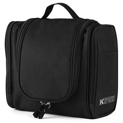 KIPOZI Hanging Toiletry Bag Travel Toiletry Kit for Men Women Toiletries cosmetics Rugged & Water Resistant with Mesh Pockets & Sturdy Hanging Hook Shower Bag