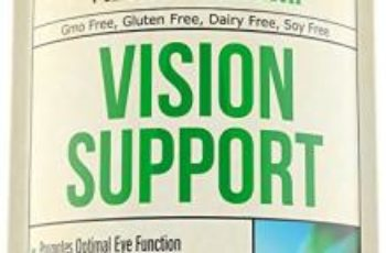 Vision Support Eye Formula Supplement - Lutein + Zeaxanthin + Bilberry Extract + L-Taurine + Zinc + Biotin + Selenium. Natural Blend of Herbs, Multivitamins & Minerals. Healthy Eyes, Retina & Macula