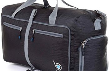 Sports Duffle Bag for Gym Gear or travel - with shoes pocket - 23'' (Medium, Black)