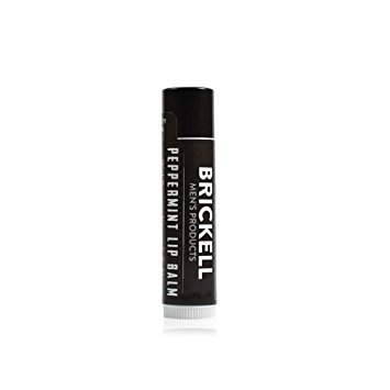 Brickell Men's No Shine Lip Balm for Men - .15 oz - Natural & Organic
