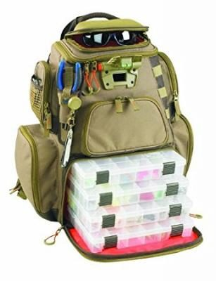 Wild River by CLC Custom Leathercraft WT3604 Tackle Tek Nomad Lighted Backpack with Four PT3600 Trays