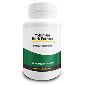 Real Herbs Yohimbe Bark Extract Standardized to 3% Yohimbine HCL (Hydrochloride) - Yohimbine for Men & Women - Improves Sex Drive and Vitality - Yohimbe Bark Powder in 100 Vegetarian Capsules