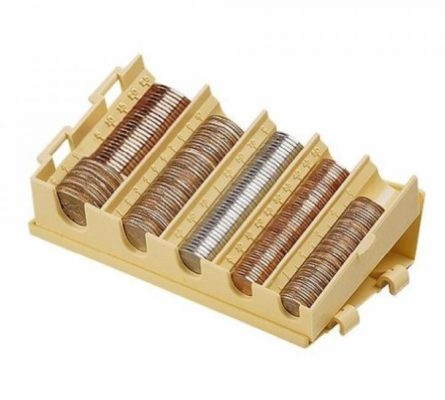 MMF Industries Compact Coin Organizer, 5 Compartments, Sand (221477703)