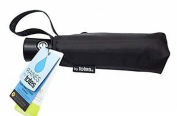 Raines by Totes Automatic Compact Umbrella with Auto Open and Close Medium Black