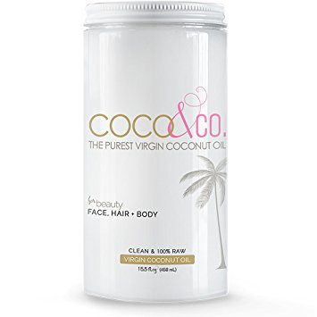 Pure Organic Virgin Coconut Oil for Hair, Skin, Body, Scalp and Hair Growth By COCO&CO. Cosmetic Grade 100% RAW