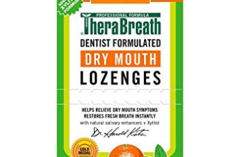 TheraBreath Dry Mouth Dentist Formulated Lozenges, Sugar Free, Mandarin Mint Flavor, 100 Count