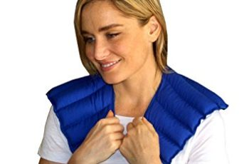 My Heating Pad- Neck & Shoulder Wrap – Natural Heat Therapy - Neck Pain Relief (Blue)