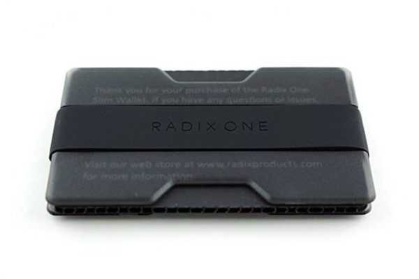 Radix One Slim Wallet (Smoke/Black) - Minimalist Front Pocket Ultralight Thin Polycarbonate Wallet Money Clip