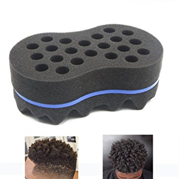 RioRand Magic Twist Hair Sponge,Barber Sponge Brush 2 In 1,10 & 16 Mm Hole Diameter(Dimension: 19011565 MM)
