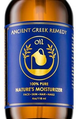 100% Organic Blend of Olive, Lavender, Almond & Grapeseed oils with Vitamin E. Daily Moisturizer for Skin, Hair, Face, Cuticle, Nail, Scalp & Foot. Pure, Cold Pressed, Body oil for Men & Women 4oz